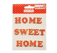 RJB - Lettres Magnétique Home Sweet Home Pois Rouges (TER011PD)