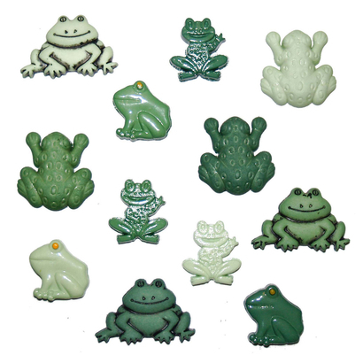 Dress it Up - Button Fun Frogs 802
