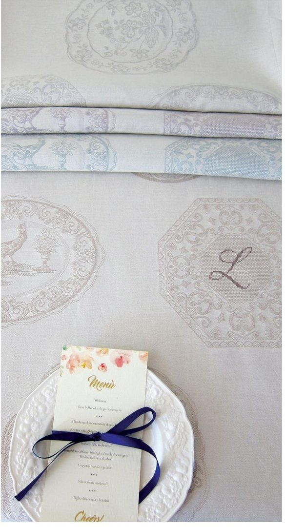 Graziano - Toile Arte Tavola China, coloris Nocciola (Noisette) 200 cm de large