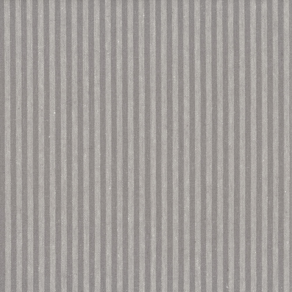Stof - Shabby Chic Gris Lignes BLanches