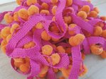 rico design - Pompons bicolore Fuchsia Orange