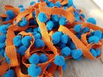 rico design - Pompon Bleu orange
