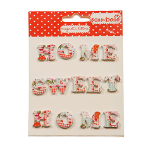 RJB - Lettres Magnétique Home Sweet Home Patchwork (TER011P)