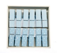 RJB - Lot de 12 pinces col Bleu (FH012-BL)