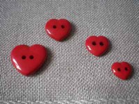 Bouton Coeur Rouge