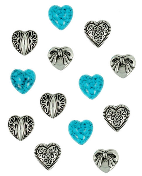 Dress it Up - Small Silver Hearts 181