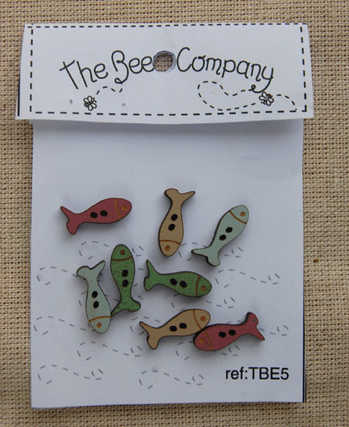 The Bee Company - Boutons Mini Poissons TBE5