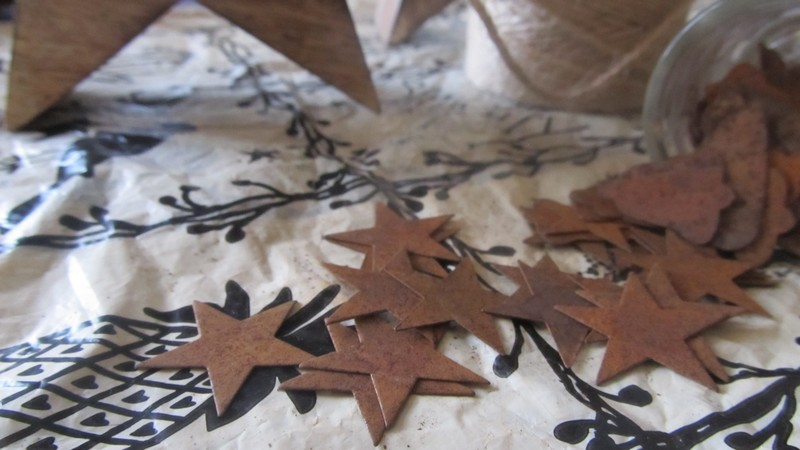 SJ - Primitive Rusty Tin Star Button 2,5cm