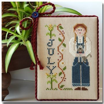 LITTLE HOUSE NEEDLEWORKS - Calendar Girl July