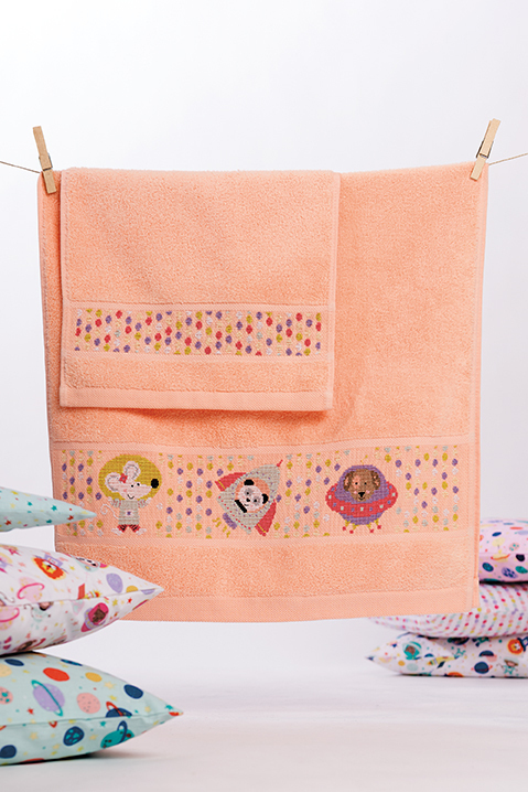 Rico Design - Serviette de toilette Coloris Abricot (154)