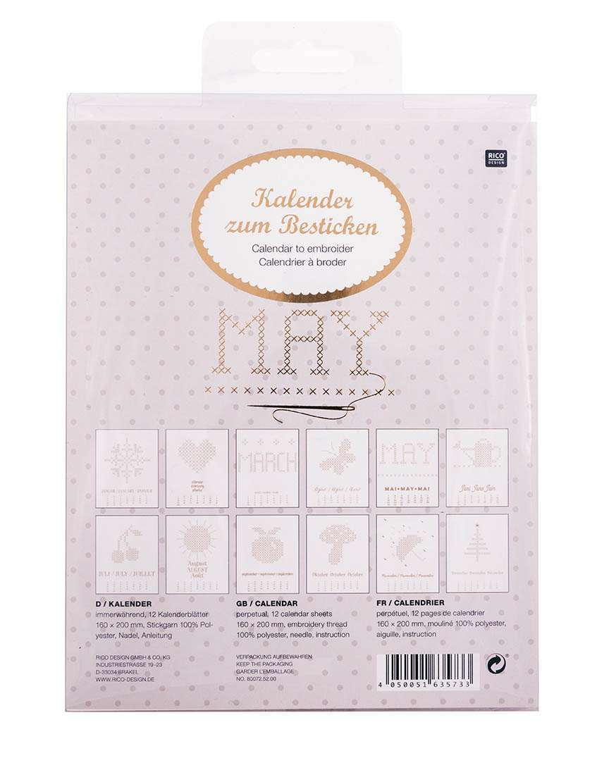 Rico Design - Kit Calendrier a broder OR 80072.52.00