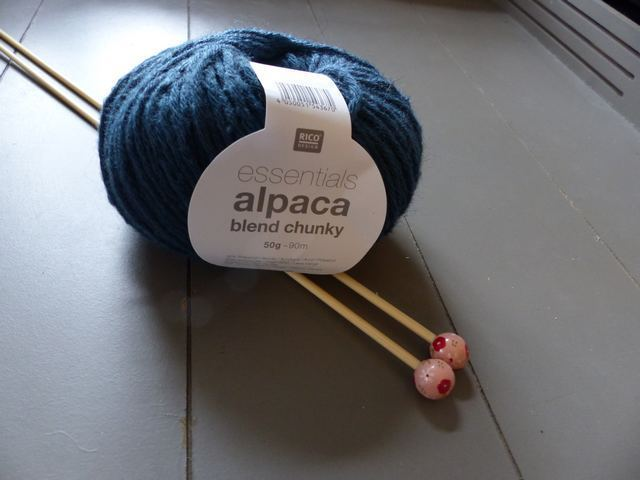 Rico Design - Essentials Alpaca Blend Chunky coloris Bleu Pétrole 011