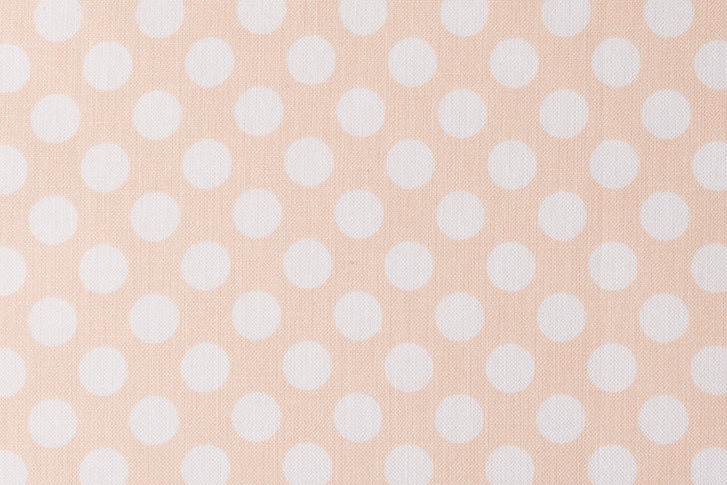 Rico Design - Toile Grand Pois blancs Fond Abricot-0001