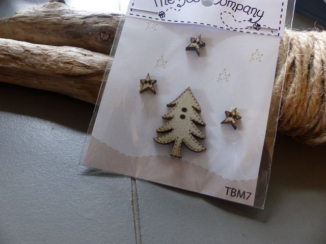 The Bee Company  - Boutons Sapin et etoiles TBM7