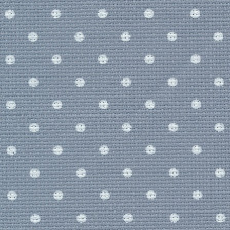 Aïda Zweigart 8 points réf 5269 Pois Vintage Bleu antique