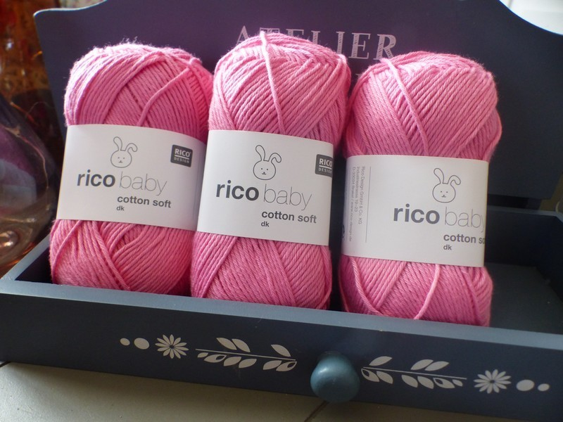 Rico Design - Baby Cotton Soft DK coloris Flamant rose 053