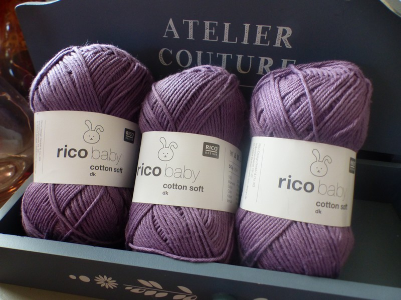 Rico Design - Baby Cotton Soft DK coloris Lilas 055