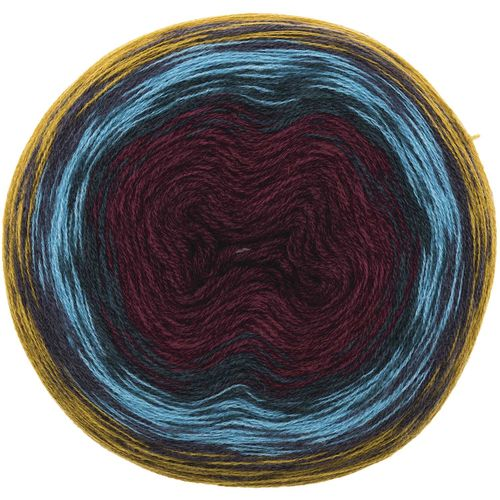 Rico Design - Creative Wool dégradé Super6 coloris Moutarde-Rouge 006