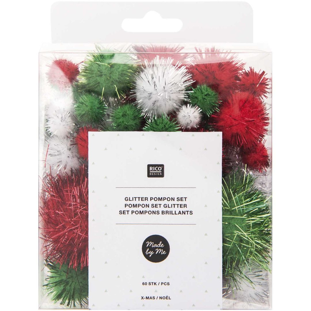Rico Design - Set de pompons brillants X MAS 08758.00.26 (164)