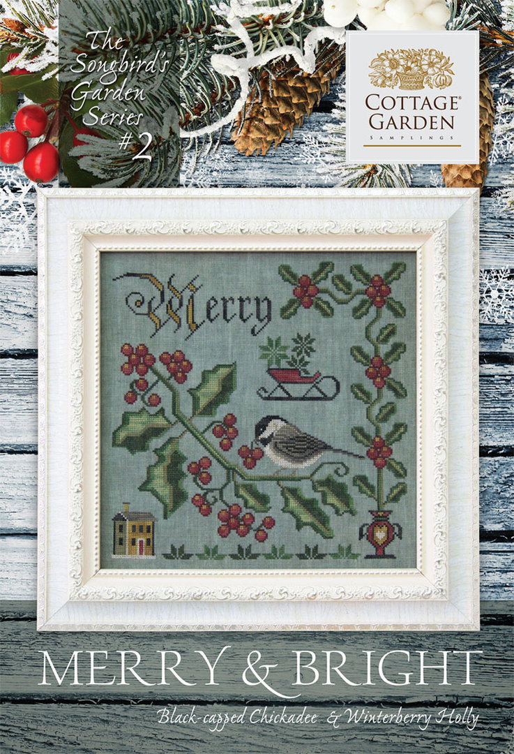 Cottage garden Samplings - Merry & Bright, The songbird's garden Series 2/12