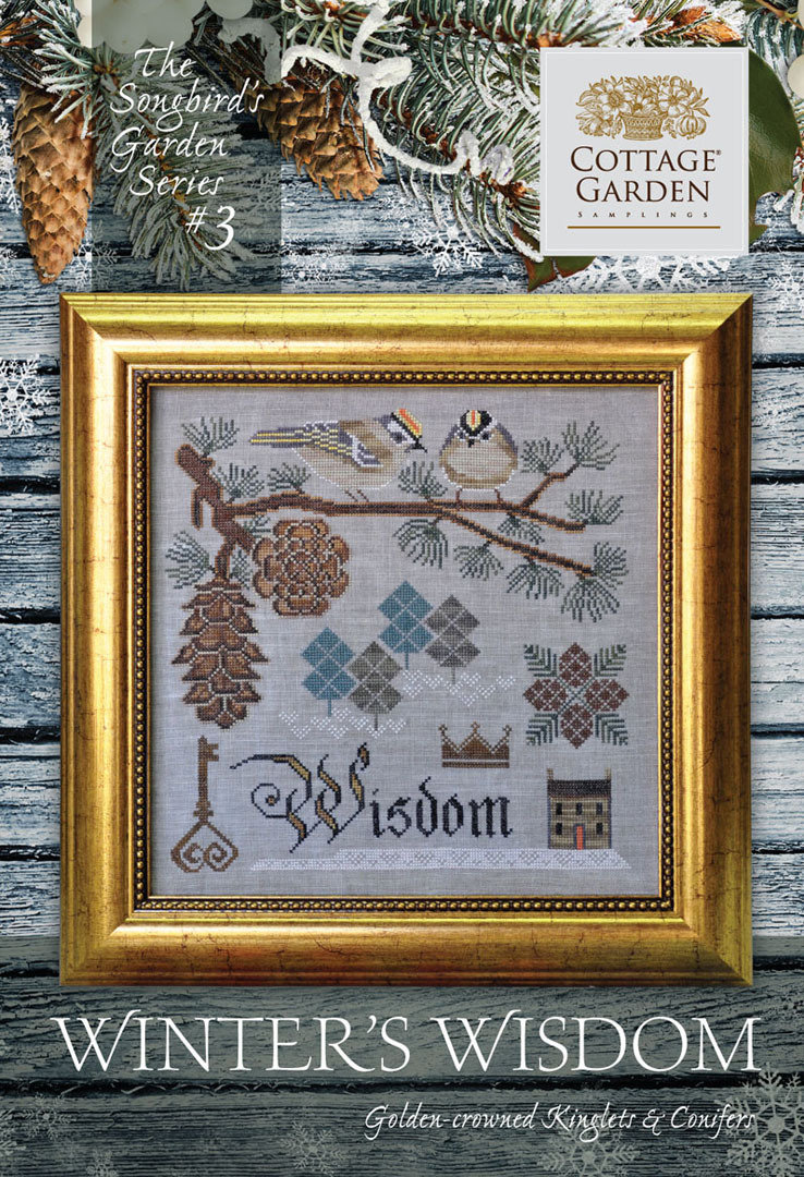 Cottage garden Samplings - Winter's Winsdom, The songbird's garden Series 3/12
