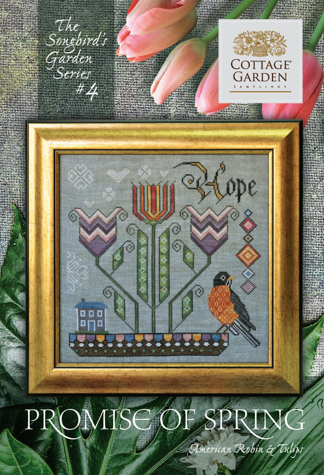 Cottage garden Samplings - Promise of Spring , The songbird's garden Series 4/12