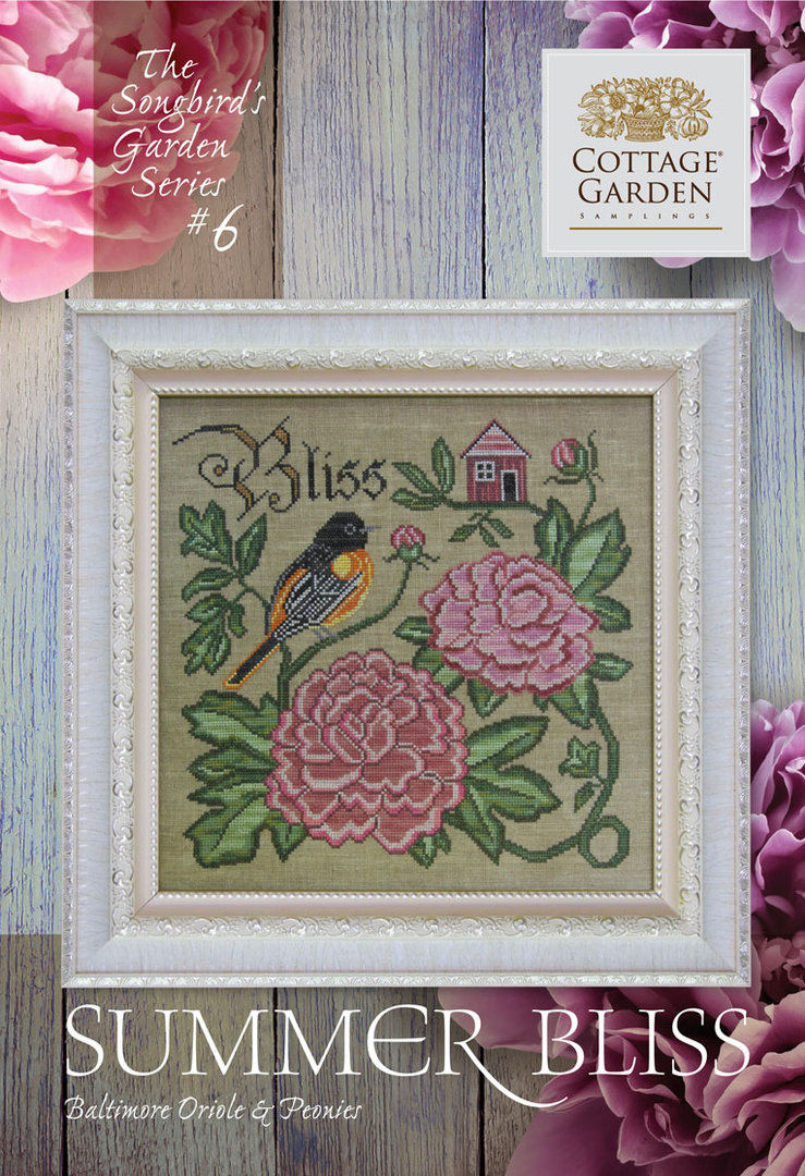 Cottage garden Samplings - Winter's Winsdom, The songbird's garden Series 6/12