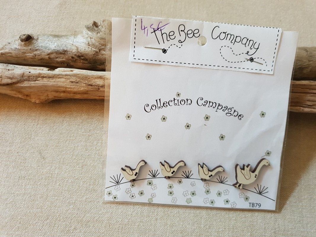 The bee Company - Boutons campagne , 4 oies TB79