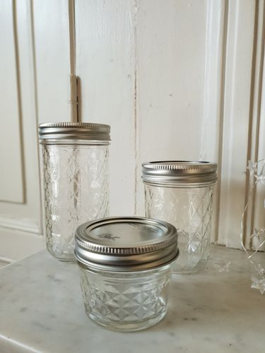 LCA - Lot de 3 Pots Mason Jar
