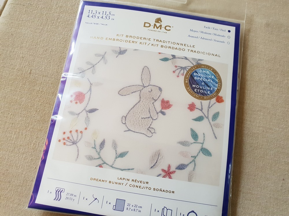 DMC - Kit broderie traditionnelle Lapin Rêveur