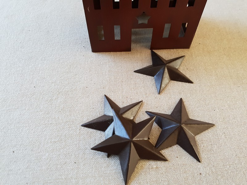 FDC - Primitive Rusty Tin Star 3D 5 cm