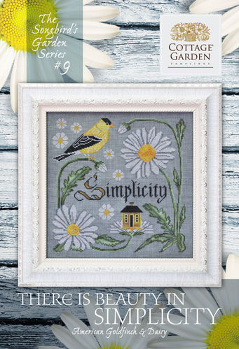 Cottage garden Samplings - There is Beauty in Simplicity, The songbird's garden Series 9/12