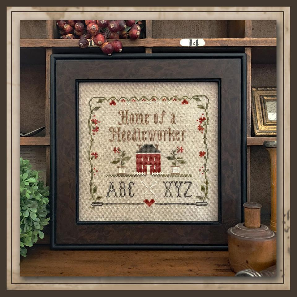 Little house Needleworks - Home of a needleworker , squared