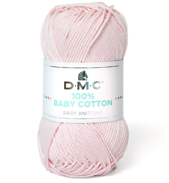 DMC - 100 % baby cotton coloris 763 Rose poudré
