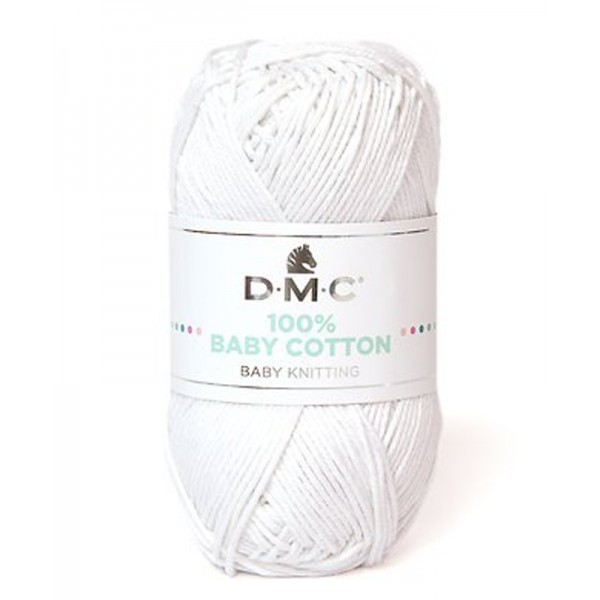 DMC - 100 % baby cotton coloris 762 Blanc