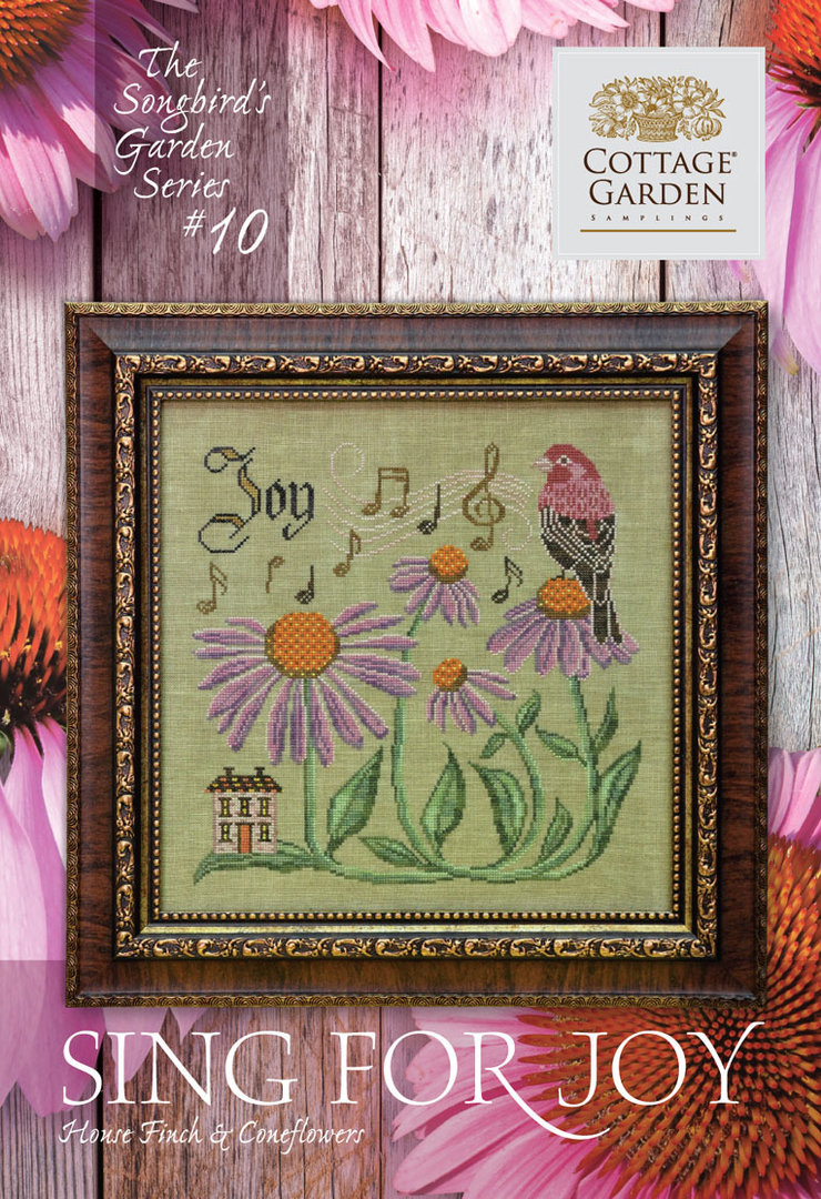 Cottage garden Samplings - Sing for Joy, The songbird's garden Series 10/12