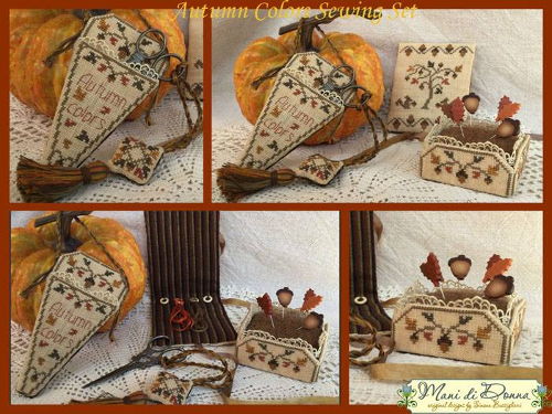 Mani di Donna - Autumn colors sewing set