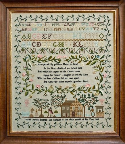 Hands Across The Sea Samplers - Sarah Borton 1815