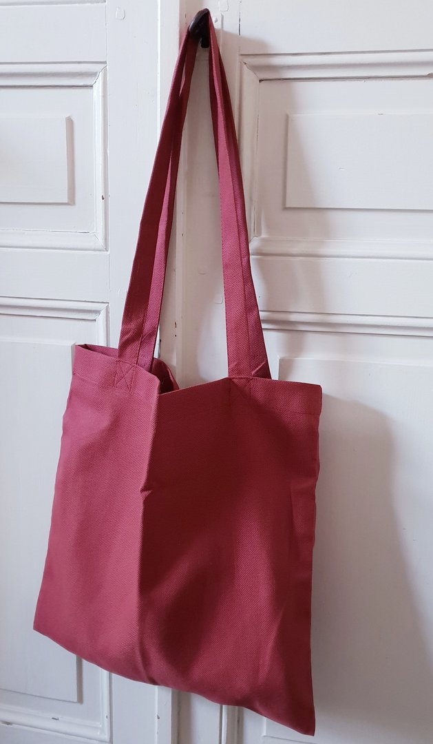 Graziano - Tote bag à broder Coloris Lie de vin