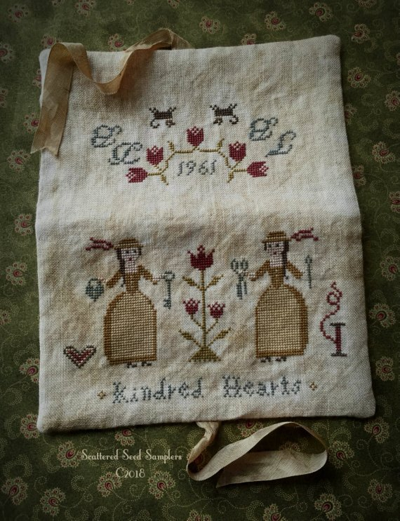Scattered seed samplers - Kindred Hearts needlekeeper