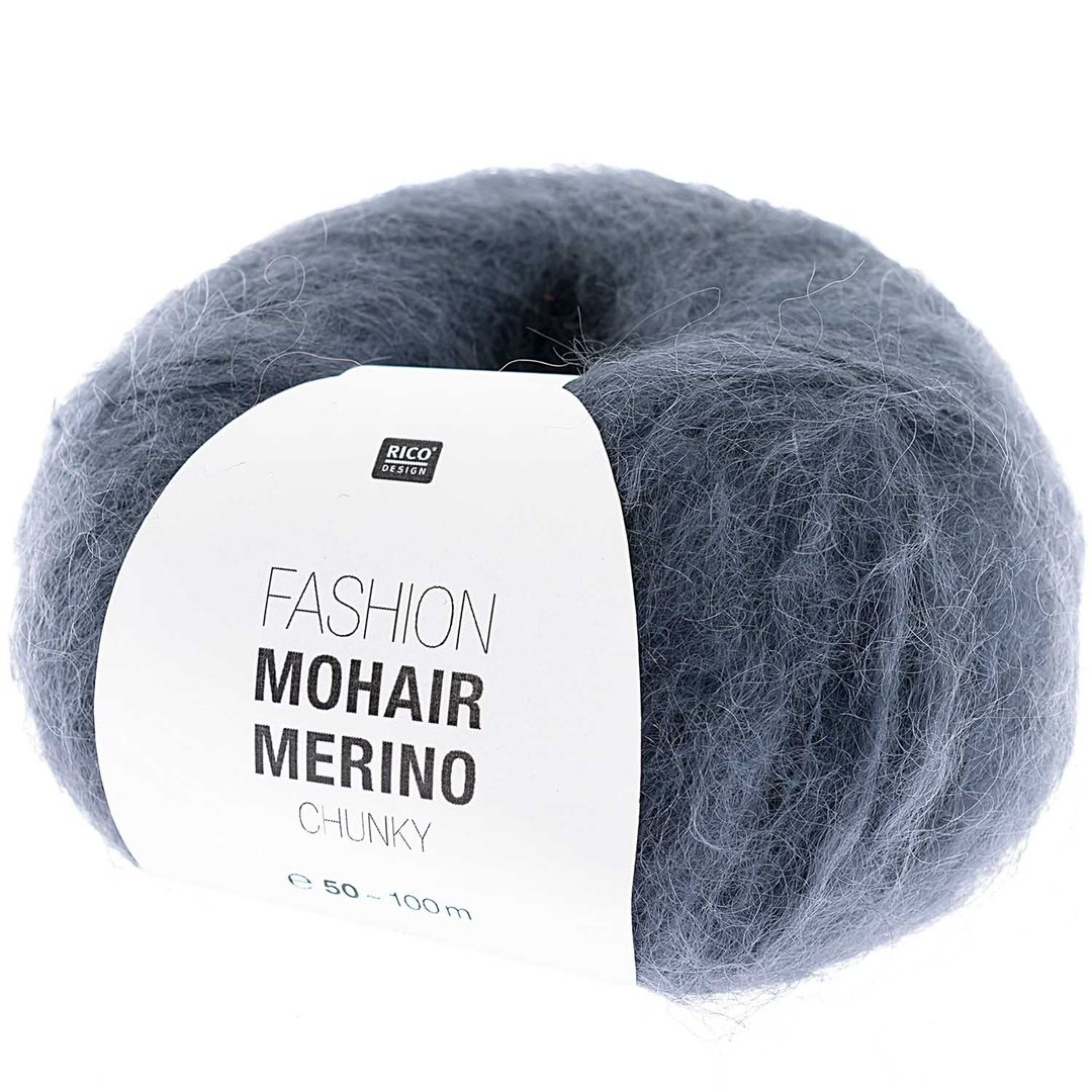 Rico design - Fashion Mohair Merino chunky coloris Bleu 007