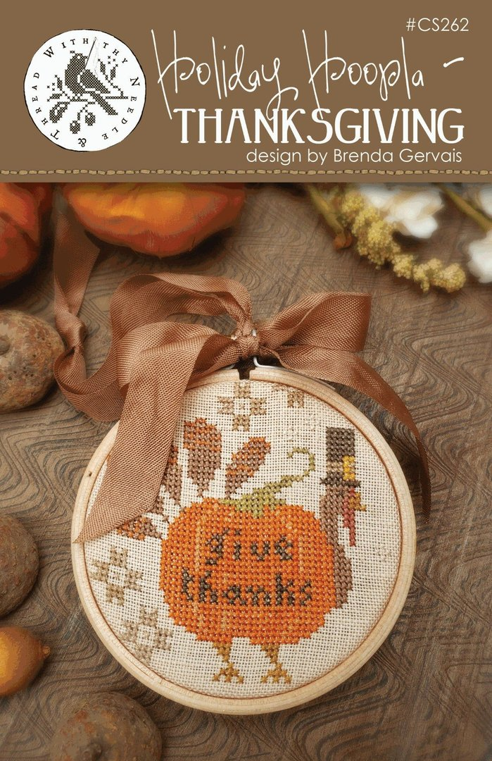 With thy Needle & Thread - Holiday Hoopla, Thanksgiving