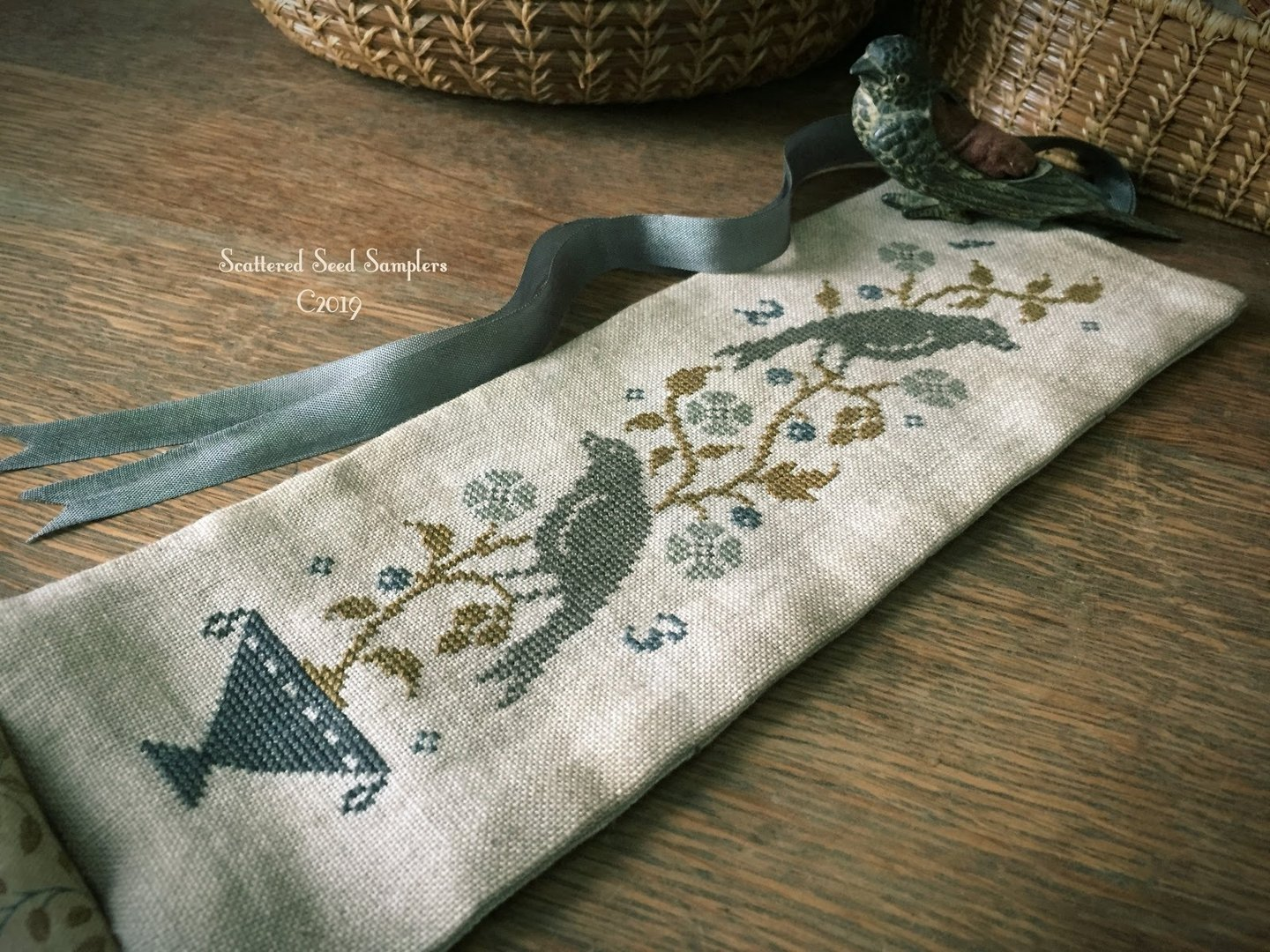 Scattered Seed Samplers - Fruit of the vine, needle roll
