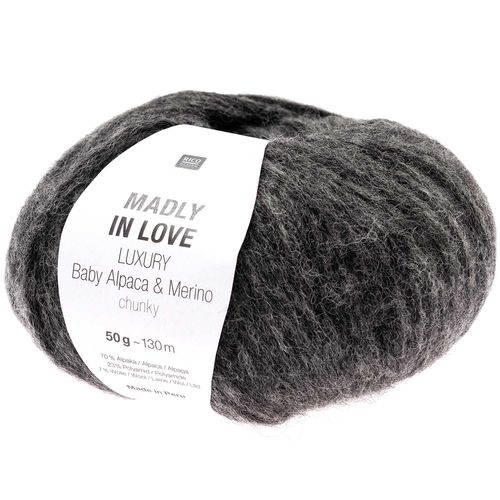 Rico Design - Luxury baby alpaga et merino chunky Madly in love col Anthracite 004