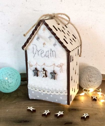 The Bee Company - Kit Patchwork Mini maison lumineuse Dream PCNI20C