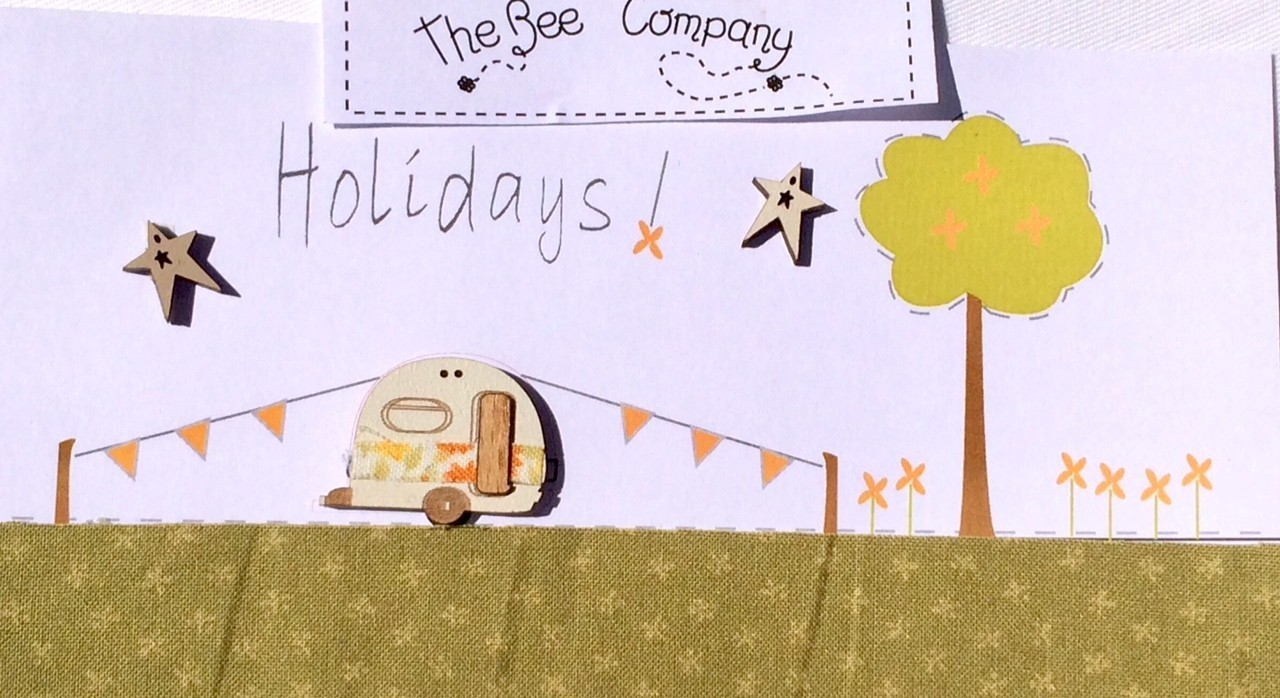 The Bee Company - Boutons caravane Vintage Holidays TBCA1
