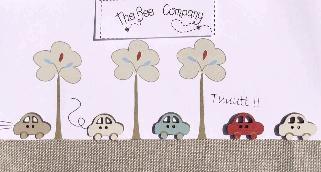 The Bee Company - Boutons voitures assorties TBB1