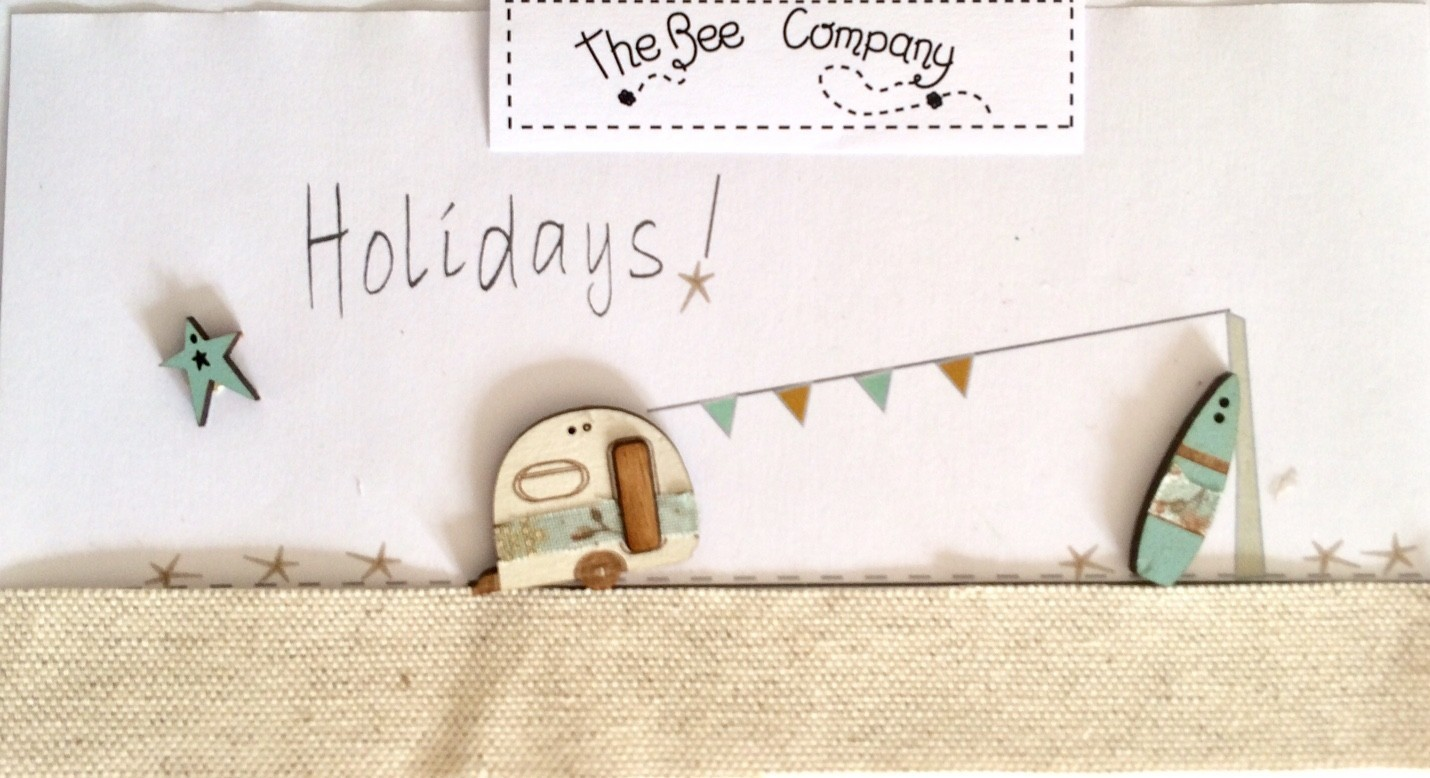 The Bee Company - Boutons Caravane & surf Summer holidays TBCA2