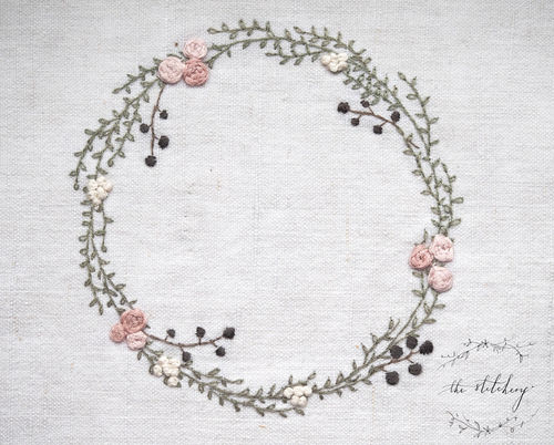 The stitchery - Mini Kit Ranunculus Wreath